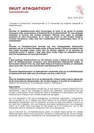 Nuuk, 19.04. 2013 I henhold til Inatsisartuts forretningsorden § 37 ...