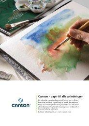 Canson - papir til alle anledninger - Colart