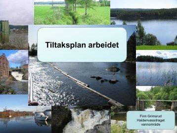 Tiltaksplanarbeidet Haldenvassdraget - Fylkesmannen.no