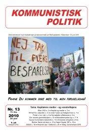 Kommunistisk Politik 13, 2010