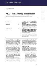 Fra Rådet til Tinget Nr: 210 PISA - øjenåbner og ... - Teknologirådet