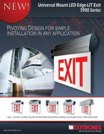Pivoting Design for simple installation in any application