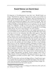 Rudolf Steiner om Henrik Ibsen - Antroposofisk Selskap i Norge