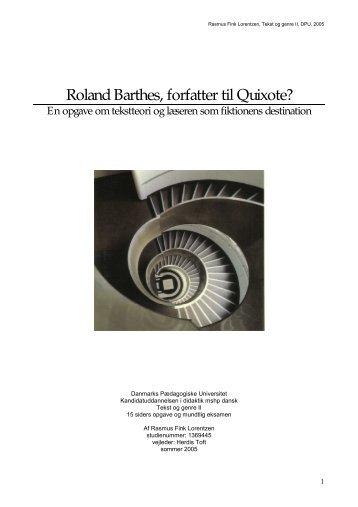 Roland Barthes, forfatter til Quixote - rasmus-fink-lorentzen