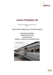 produksjon - Lunner Produkter AS