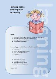 Hadbjerg skoles handlingsplan for læsning