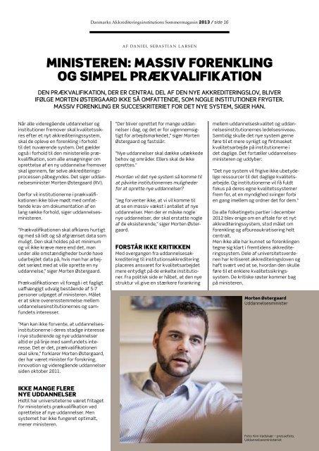 Sommermagasinet 2013 - Danmarks Akkrediteringsinstitution