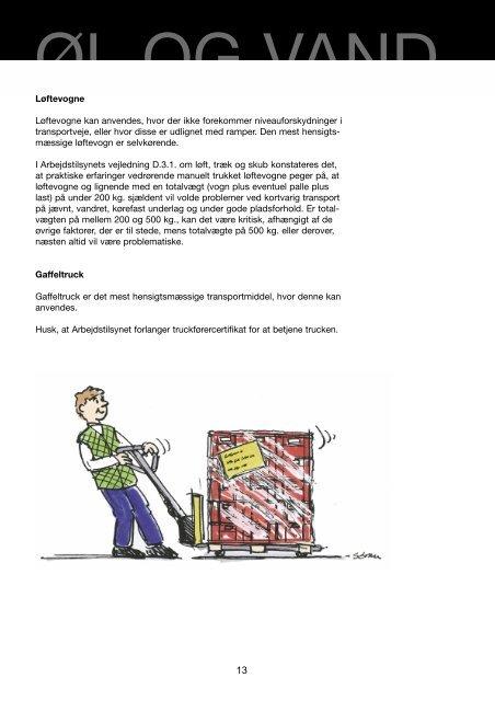 Vejledning om indbæring af øl og vand - BAR transport og engros