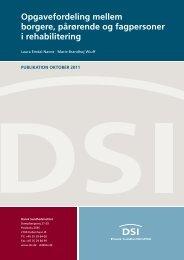 Opgavefordeling mellem borgere, pårørende og ... - Danske Patienter