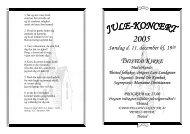 Program for kirkekoncert - Loge nr. 41 Petrus Beyer, 7700 Thisted