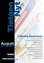 TietgenNyt - august 2009 - TietgenSkolen