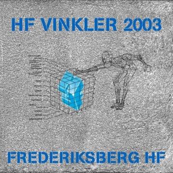 HF VINKLER 2003 - Frederiksberg HF Kursus