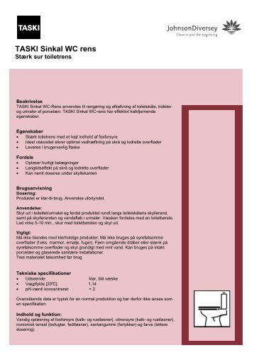 TASKI Sinkal WC rens 0708 - Acanti