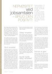 Nervøsitet ved jobsamtalen, af Lykke Pedersen, cand.psych, udg. i ...