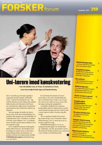 Et dansk uni - FORSKERforum