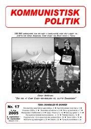 Kommunistisk Politik 17, 2005