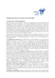 Tätigkeitsbericht 2008 - Andheri-Hilfe Bonn