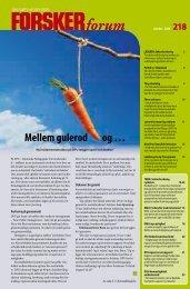 Mellem gulerod og … - FORSKERforum