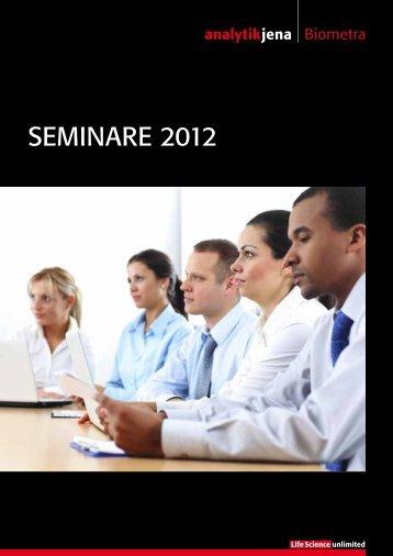 Zum Seminarplan - Analytik Jena AG