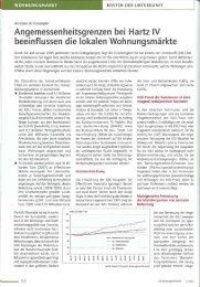 Angemessenheitsgrenzen bei Hartz IV ... - Analyse & Konzepte