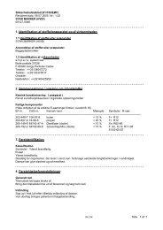 1. Identifikation af stoffet/præparatet og af virksomheden 2 ... - Witre