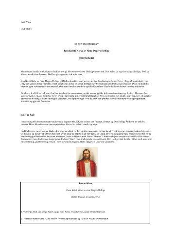 Jesu Kristi Kirke av Siste Dagers Hellige (mormonene)