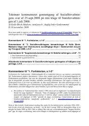 2008-11-10 Notat. Gaderummet om svar fra Socialforvaltningen af ...