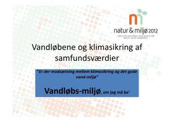 Vandløbene og klimasikring af samfundsværdier - Natur & Miljø 2012