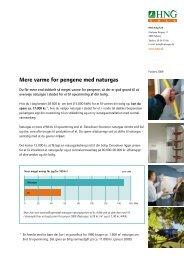 Mere varme for pengene med naturgas - VVS & Taggruppen ApS.
