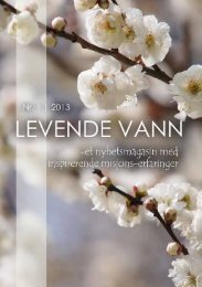 Living Water News - Levende Vann