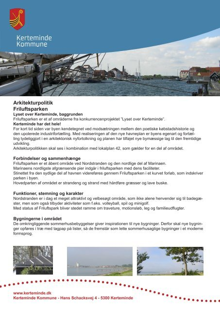 Arkitekturpolitik Friluftsparken - Kommuneplanen for Kerteminde ...