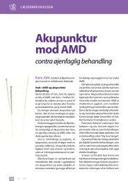 Akupunktur mod AMd - Øjenforeningen Værn om Synet