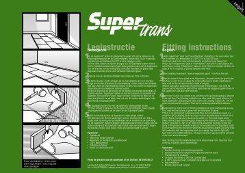 Leginstructie Fitting instructions - Unifloor