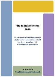 Studenterøkonomi 2010 - Danske Studerendes Fællesråd