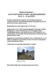 Rejse til Gotland – en tur med masser af natur- og kulturoplevelser ...