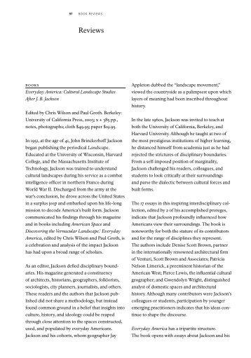 Book Reviews - National Park Service