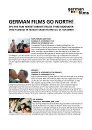 german films go north! syv nye film hentet direkte fra de ... - Tysk.dk
