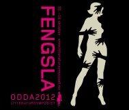 FENGSLA 10. - 14 - Litteratursymposiet