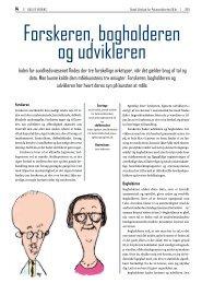 Forskeren, bogholderen og udvikleren - Dansk Selskab for ...