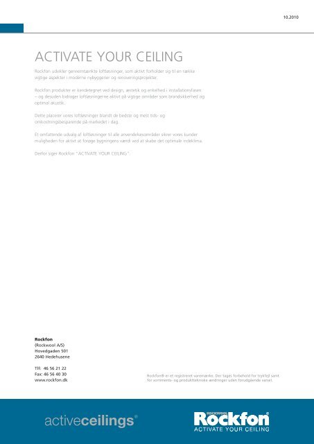 Sonar® dB sortimentet - Produkter - Rockfon