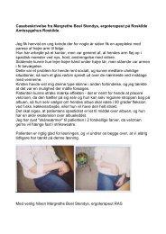 Casebeskrivelse fra Margrethe Boel Stendys ... - Håndterapi