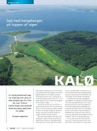 Download turartiklen om Kalø Vig fra SEJLER ... - Dansk Sejlunion
