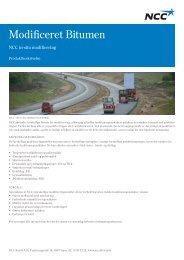 Modificeret Bitumen - NCC