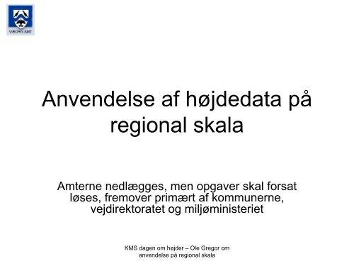 Anvendelse af højdedata på regional skala - Kort