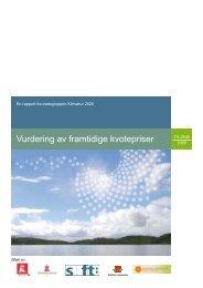 Vurdering av framtidige kvotepriser: En rapport fra ... - Oljedirektoratet