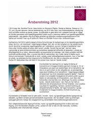 Årsberetning 2012 - Kvinderådet