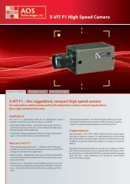 S-VIT F1 High Speed Camera