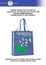 Internt kursus - Foreningen Norden