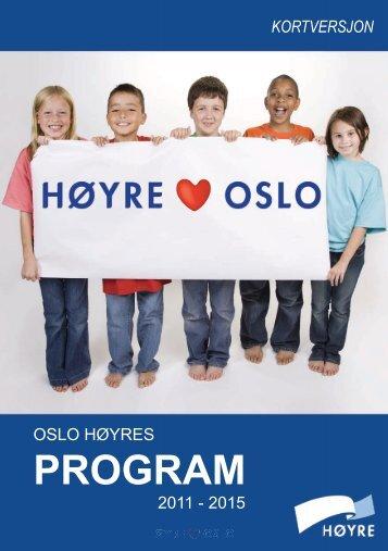 Oslo Høyres Program 201...