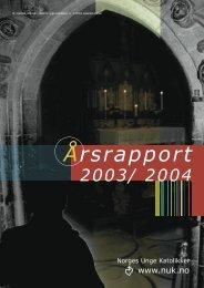Årsrapport 2003-2004 - Norges Unge Katolikker